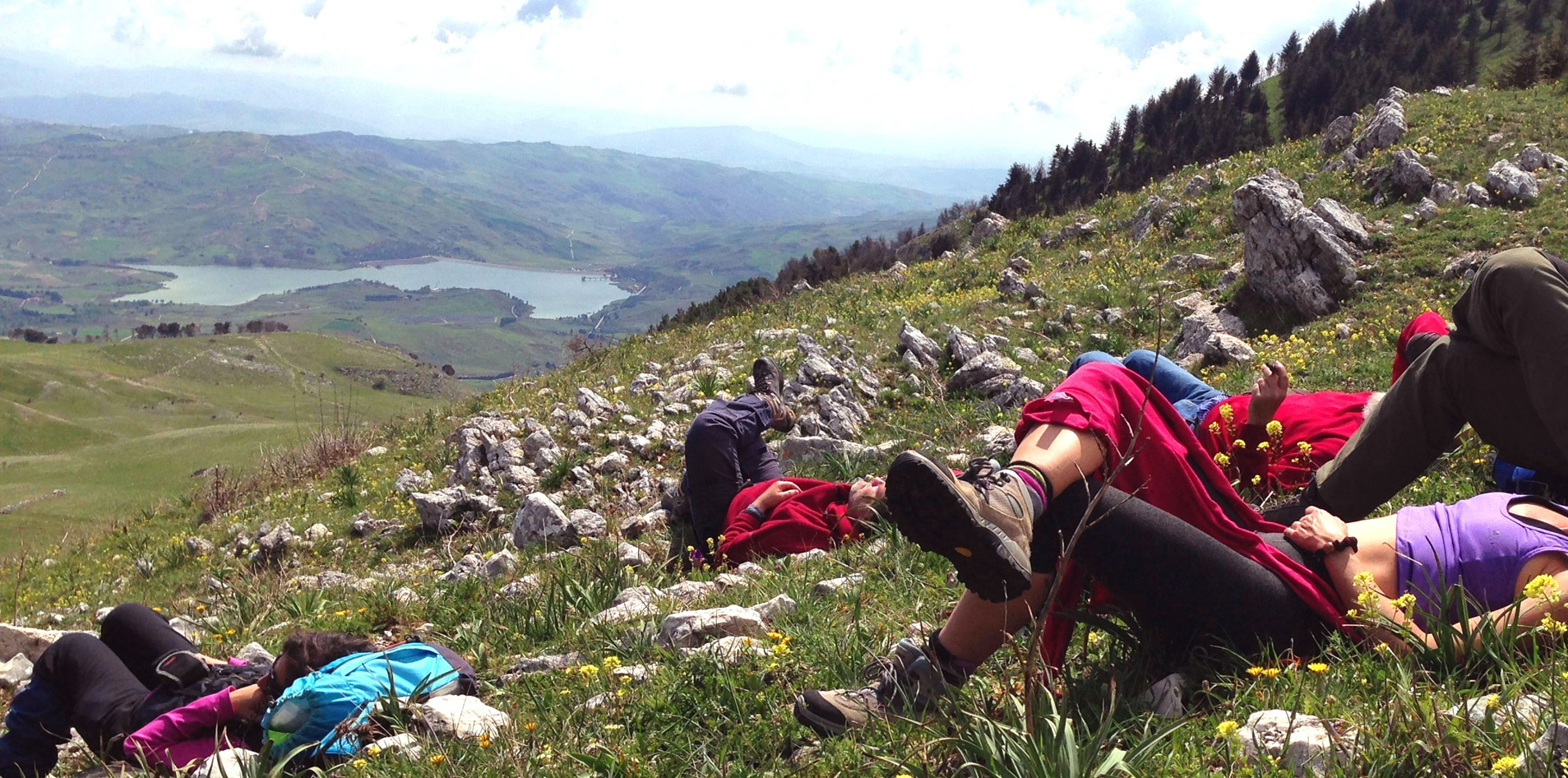 Trekking in the sicanian mountains